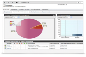 Screenshot PLM Oracle